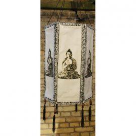 lampenschirm lokta papier 6 eckig gross buddha weiss papierleuch. Black Bedroom Furniture Sets. Home Design Ideas