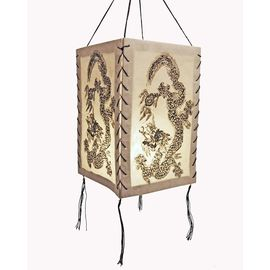 Lampenschirm Goldener Elefant LOKTA Papier türkis Papierleuchte Papierlampe L