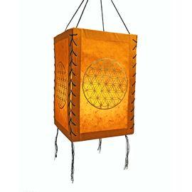 LOKTA Papier Lampenschirm Papierleuchte Papierlampe Lampion Hängelampe Nepal