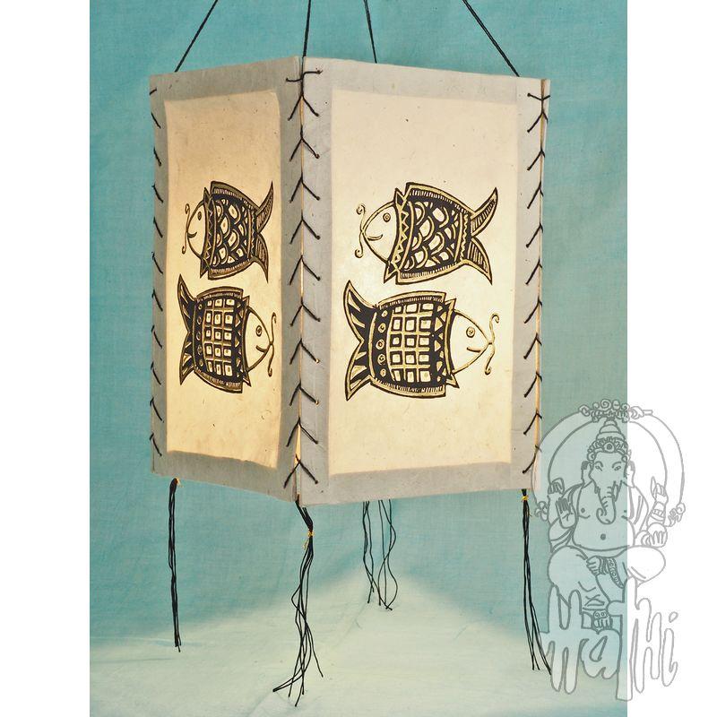 Papierleuchte Papierlampe Lampion Lampenschirm Fatimas Hand rot LOKTA Papier