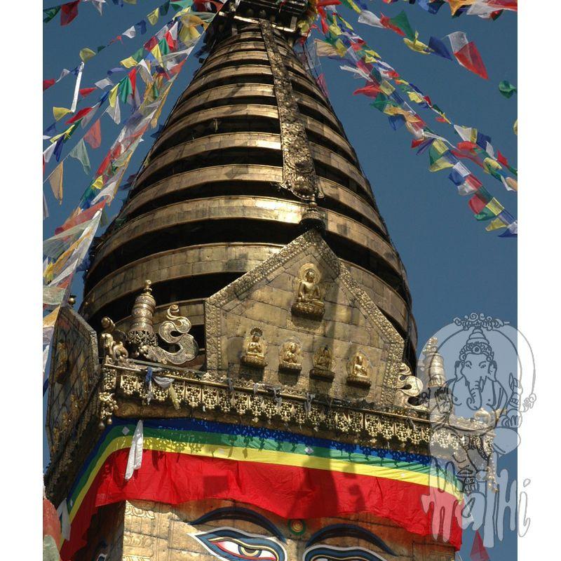 gesamt  ca 8 Meter Gebetsfahnen Mini Set mit 5 Stück Tibet Fahne Nepal Buddhis